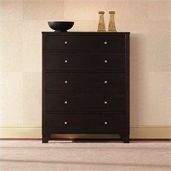 Lifestyle Solutions 500 Series 5 Drawer Chest in Cappuccino