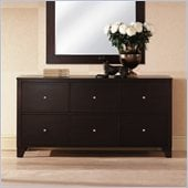 Lifestyle Solutions 500 Series 6 Drawer Triple Dresser in Cappuccino