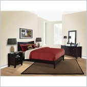 Lifestyle Solutions Canova 4 Piece Bedroom Set in Cappuccino