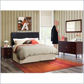 Lifestyle Solutions Salem 4 Piece Queen Bedroom Set in Cappuccino