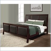 Lifestyle Solutions Princeton Platform Bed in Twilight Cherry
