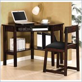 Lifestyle Solutions Cambridge Desk and Chair Set in Espresso Finish