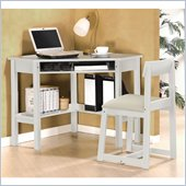 Lifestyle Solutions Cambridge Desk and Chair Set  in Classic White