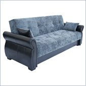 Lifestyle Solutions Serta Dream Convertible Sofa in Normandy Charcoal Microfiber
