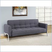 Lifestyle Solutions Marquee Bonn Convertible Sofa in Charcoal Gray