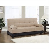 Lifestyle Solutions Serta Dream Convertible Sofa in Harvard Khaki