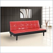 Lifestyle Solutions Blake Convertible Sofa in Red
