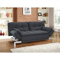 Lifestyle Solutions Serta Boca Convertible Sofa in Charcoal Tweed
