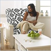 Lifestyle Solutions Cottage Futon Chair Frame in Satin White