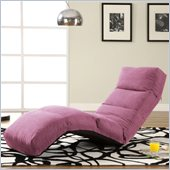 LifeStyle Solutions Jet Curved Chair Chaise Lounge in Rosy Pink