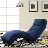 LifeStyle Solutions Jet Curved Chair Chaise Lounge in Royal Blue