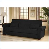 LifeStyle Solutions Roxbury Casual Convertible Sofa in Black
