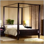 Lifestyle Solutions Wilshire Modern Platform Canopy Bed in Cappuccino