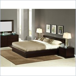 Lifestyle Solutions Zurich Platform Bed in Cappuccino Finish