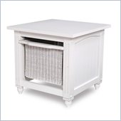 Lifestyle Solutions Country Cottage Storage End Table in Satin White