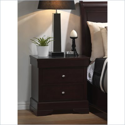 Lifestyle Solutions 588V Series 2 Drawer Nightstand in Cappuccino