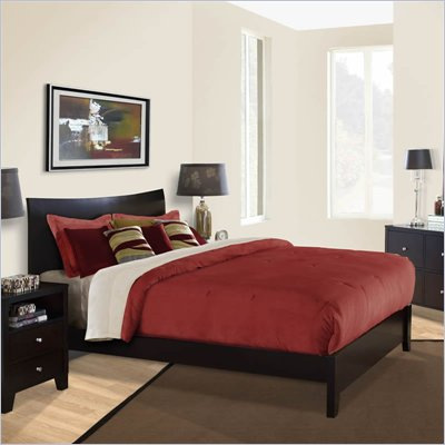 Lifestyle Solutions Canova Platform Bed in Cappuccino