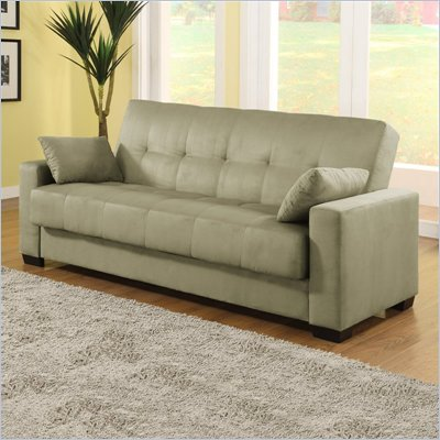 Lifestyle Solutions Napa Convertible Sofa in Olive