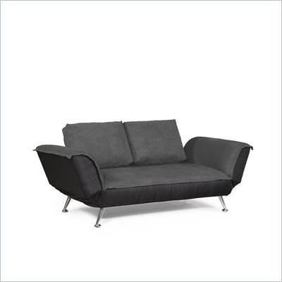 Lifestyle Solutions Avalon Casual Convertible Sofa in Dark Gray
