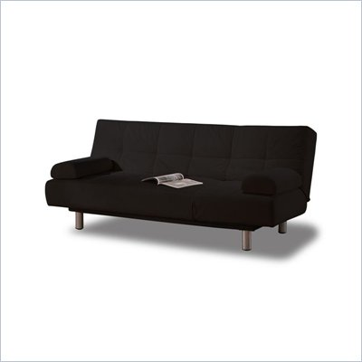 LifeStyle Solutions Casual Convertibles Aruba Futon Sofa in Black