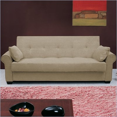 Lifestyle Solutions Roxbury Casual Convertible Sofa in Olive