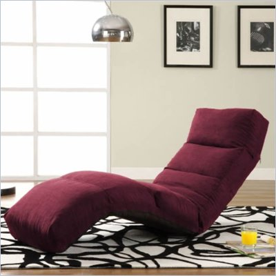 LifeStyle Solutions Jet Curved Chair Chaise Lounge