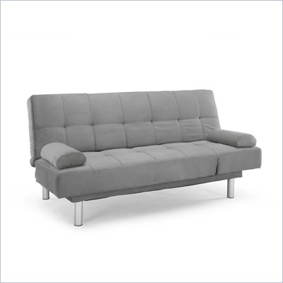 Lifestyle Solutions Dallas Convertible Sofa in Dark Grey Microfiber