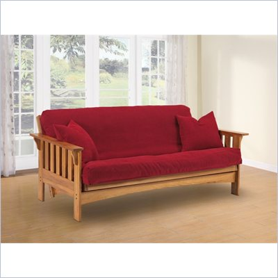 LifeStyle Solutions Tahoe Solid Oak Futon Frame
