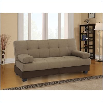 Lifestyle Solutions Madison Park Convertible Sofa in Cocoa Microfiber