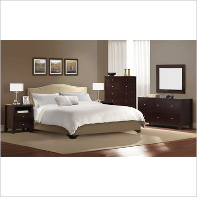 Lifestyle Solutions Magnolia Platform Bed 4 Piece Bedroom Set