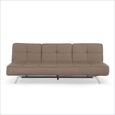Lifestyle Solutions Bari Convertible Sofa in Dark Grey