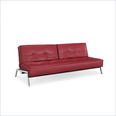 Lifestyle Solutions Copenhagen Convertible Sofa in Crimson Red