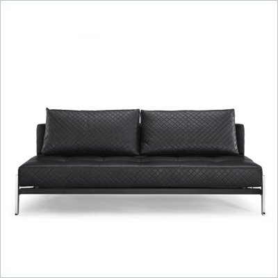 Lifestyle Solutions Marquee Denmark Convertible Sofa in Obsidian Black
