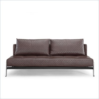 Lifestyle Solutions Marquee Denmark Convertible Sofa in Seal Brown