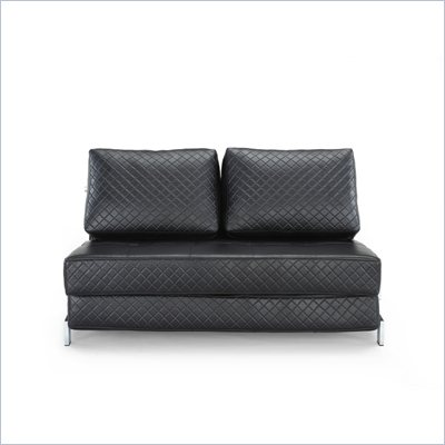 Lifestyle Solutions Marquee St. Martin Convertible Sofa in Black
