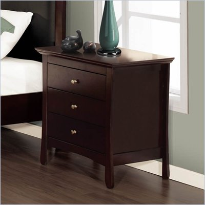 Lifestyle Solutions S375VI Series Nightstand in Twilight Cherry