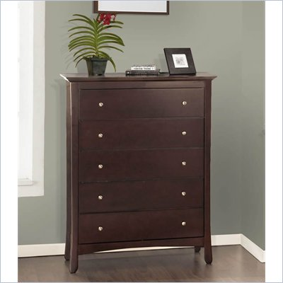 Lifestyle Solutions S375VI Series 5 Drawer Chest in Twilight Cherry