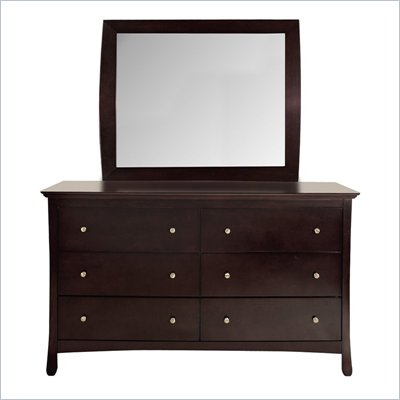 Lifestyle Solutions S375VI Series 6 Drawer Dresser and Mirror Set