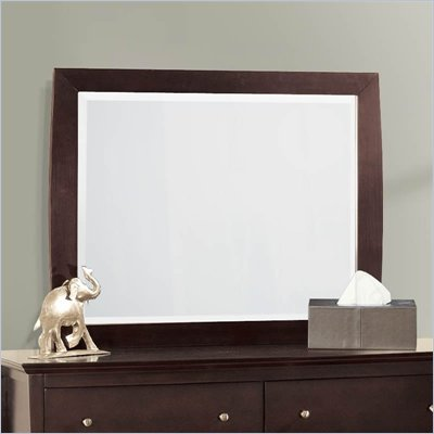 Lifestyle Solutions S375VI Series Landscape Mirror in Twilight Cherry