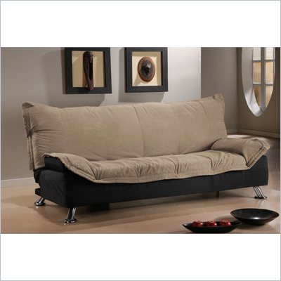LifeStyle Solutions San Juan Casual Convertible Sofa in Khaki/Black