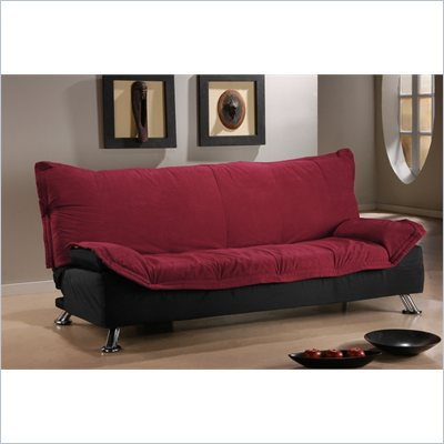 LifeStyle Solutions San Juan Casual Convertible Sofa in Ruby/Black