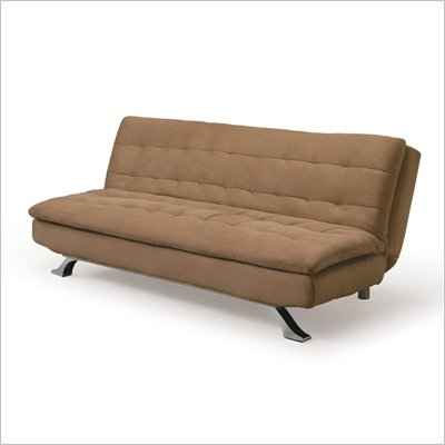 Lifestyle Solutions Serta Dream Convertible Alena Sofa in Hazelnut Microfiber