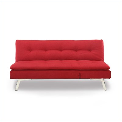 Lifestyle Solutions Shelby Convertible Sofa in Maroon