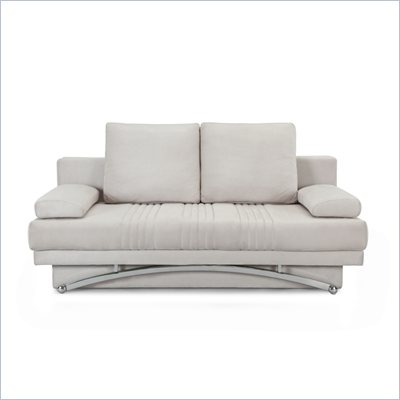 Lifestyle Solutions Signature Convertible Fabric Sofa in Victoria Ivory