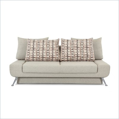 Lifestyle Solutions Signature Convertible Sofa in Amanda Light Brown Fabric