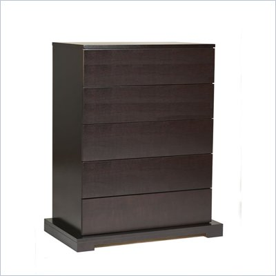 Lifestyle Solutions Zurich 5 Drawer Chest in Cappuccino Finish