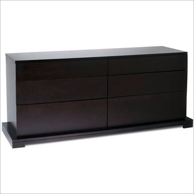 Lifestyle Solutions Zurich 6 Drawer Double Dresser in Cappuccino