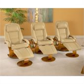Mac Motion Chairs Oslo Wide 3 Piece Set in Cobblestone Leather