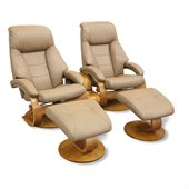 Mac Motion Chairs Oslo 3 Piece Set in Sand Leather