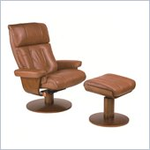 Mac Motion Chairs Oslo Recliner Chair and Ottoman Set in Saddle Leather